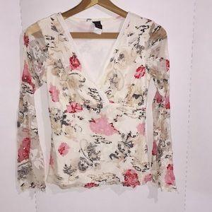 Fun Asian print blouse